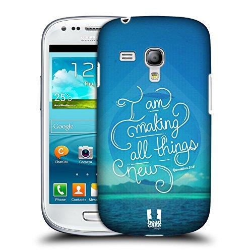 Head Case Designs Neu Christlicher Typografie Snap-on Schutzhülle Back Case für Samsung Galaxy S3 III mini I8190