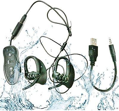 HD Waterproof MP3 Player Impermeable Mp3 Mini jugador de música de deporte 4GB IPX8 Portable - Escucha tu música mientras nadar/Running/Entrenamiento/para todos los deportes - Nuevo diseño impermeable Deporte reproductor de mp3 - Agua Profundidad de 3 metros pueden añadir escuchar música (MP3 LFA -296)