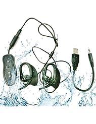 HD Waterproof Mp3 player Wasserdicht Mp3 Mini Sport Musik Player 4GB IPX8 Portable - Hören Sie Ihre Musik beim Schwimmen / Laufen / Training / Für alle Freizeit-Sportarten - Wassertiefe von 3 Metern kann noch Musik hören (MP3-LFA-296)
