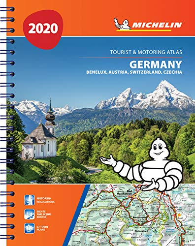 Germany, Benelux, Austria, Switzerland, Czech Republic 2020 - Tourist and Motoring Atlas (A4-Spiral): Tourist & Motoring Atlas A4 spiral (Michelin Road Atlases)