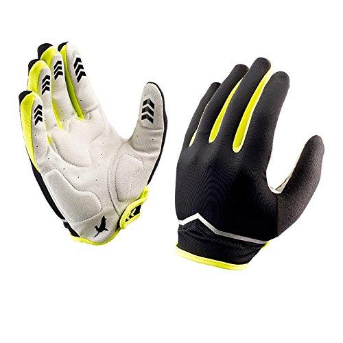 SealSkinz Madeleine Classic Handschuhe, Damen Unisex Herren, 121163507040, Black/Hi Vis Yellow, XL