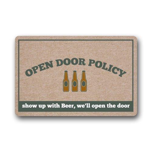 KLing CMGOODS Benutzerdefinierte Politik der offenen Tür Zeigt Sich mit Bier, wir öffnen die Tür Fußmatte Fußmatte für den Innen- / Außenbereich 16 x 24,40 cm x 60 cm