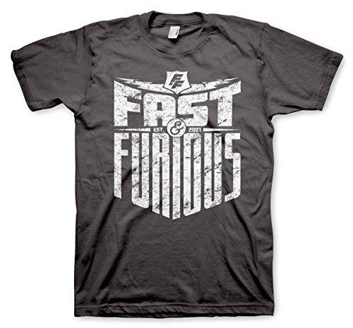odukt Fast & Furious - Est. 2007 Herren T-Shirt (Dunkelgrau), XX-Large (Dwayne Johnson Messungen)