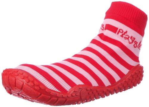 Playshoes Unisex-Kinder Aqua-Socke Streifen Badeschuhe, rot/rosa 788), 22/23 EU