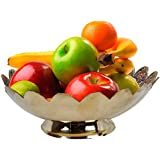 Rajasthani Home Decor Handicrafts | Home Decor Gifts | Home Decorative Items In Living Room, Bedroom | Pure Brass Minakari Work Fruit Bowl Handicraft 146