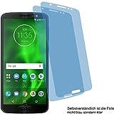 2x Crystal clear klar Schutzfolie für Motorola Moto G6 Displayschutzfolie Bildschirmschutzfolie Schutzhülle Displayschutz Displayfolie Folie