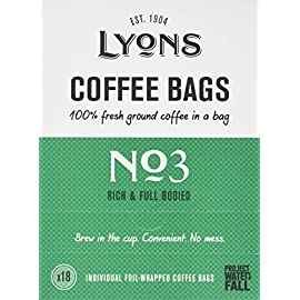 Lyons No.3 (All-Day) Coffee Bags 125g (Case of 4)