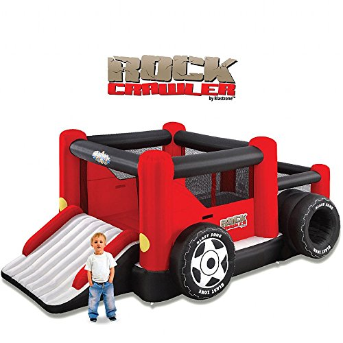 Blast Zone GE-ROCKCRAWLER Inflatable Bounce Combo with Ball Pit and Double Slide