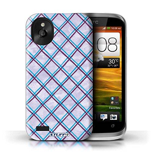 Kobalt® Imprimé Etui / Coque pour HTC Desire X / Vert/Bleu conception / Série Motif Entrecroisé Bleu/Violet