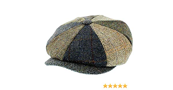 919e451845e4f7 Failsworth Lewis Mixed Carloway Harris Tweed Alfie Newsboy Cap Peaky  Blinders Hats