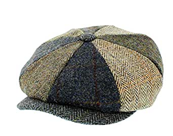 370aed2e46b Failsworth Lewis Bakerboy Patchwork Tweed Cap  Amazon.co.uk  Clothing