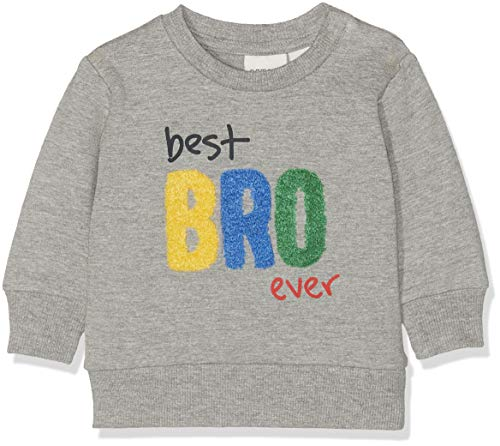 NAME IT Baby-Jungen Sweatshirt NBMDADA SWE O-Neck UNB, Grau (Grey Melange), (Herstellergröße: 68)