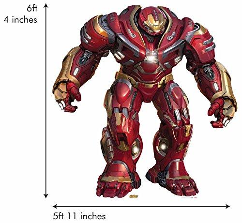 Star Einbauöffnungen SC1144Offizielles Marvel Charakter aus Karton, Lebensgröße Hulkbuster 2.0(GIANT) (Avengers: Infinity Krieg) Iron Man, mehrfarbig