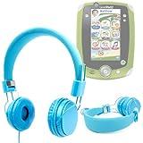 DURAGADGET casque bleu pour enfant – repliable avec microphone intégré – tablette tactile Leapfrog LeapPad 2 Explorer