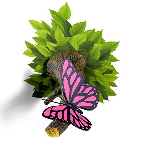 Papillon Rose 3D Applique Murale LED