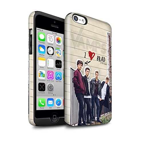 Offiziell The Vamps Hülle / Glanz Harten Stoßfest Case für Apple iPhone 5C / Pack 5pcs Muster / The Vamps Geheimes Tagebuch Kollektion Brad