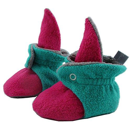 SmukkeDesign SmukkeDesign Baby Bootie Babyschuh Krabbelschuh Lauflernschuh Babybooties für Mädchen und Jungen pink türkis (6M)