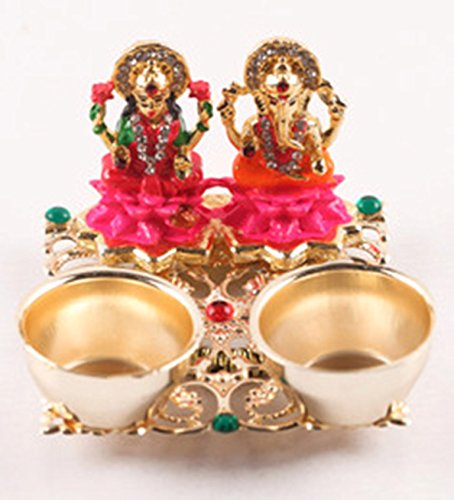 Itiha Lakshmi Ganesh on Pink Lotus Haldi Kumkum Holder (2.5 inches * 2.5 inches)  available at amazon for Rs.349