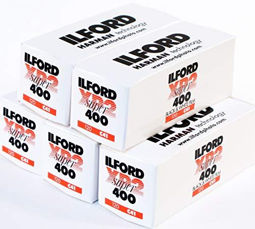 Ilford XP2 400 Schwarz-Weiß-Film, 120mm, 5Rollen (5 Schwarze Und Weiße 400 Film)