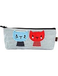 NOV@GO® Trousse à crayons chat marine (couleurs disponibles: rouge ou bleu)