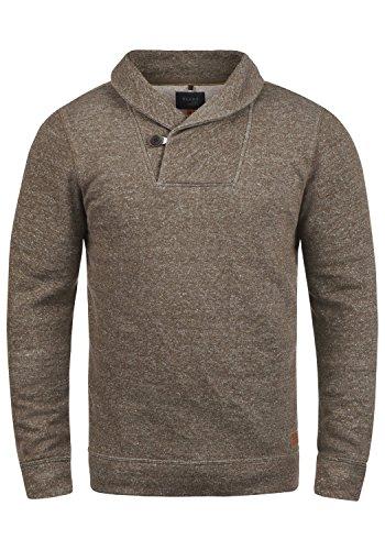 Blend Janosch Herren Sweatshirt Pullover Pulli Mit Schalkragen, Größe:3XL, Farbe:Mocca Mix (70816)