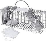 Extra Feinmaschige Lebendfalle für Siebenschläfer, Mäuse, Ratten 35 cm I Extrem Effektiv I