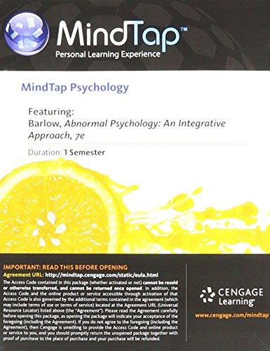 MindTap Psychologie: An Integrative Approach (MindTap Psychology Access Card) (Psychologie Access Mindtap Card)