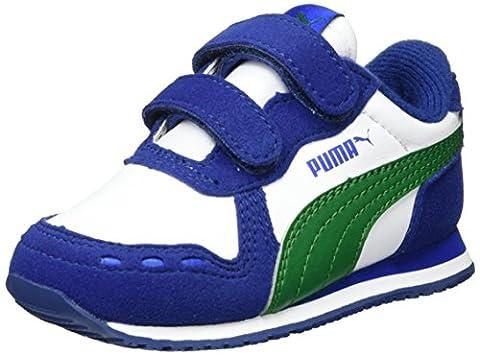 Puma Cabana Racer Sl V Inf, Sneakers Basses Mixte Enfant, Blanc (White-Verdant Green), 24 EU