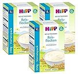 Hipp Bio-Getreidebrei Reisflocken zart schmelzend, 3er Pack (3 x 350g)
