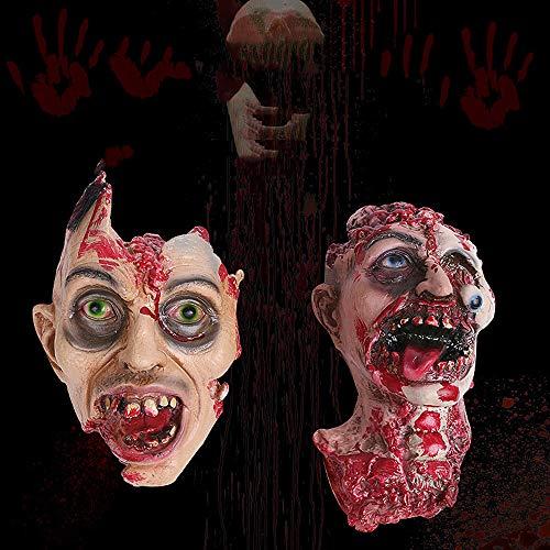 ALIKEEY Halloween Horror Kopf Simulation Maske Kopfbedeckungen für die Partei Spielzeug Geschenk ()