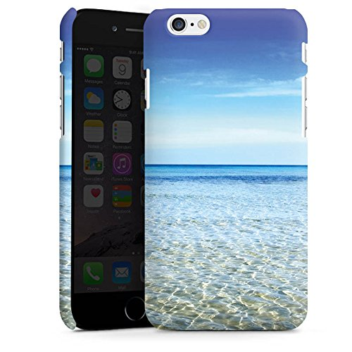 Apple iPhone X Silikon Hülle Case Schutzhülle Horizont Meer Urlaub Premium Case matt