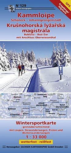 Kammloipe Schöneck-Johanngeorgenstadt / Krusnohorska lyzarska magistrala: Wintersportkarte