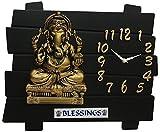 #8: Lord Ganesh Black Home Decor Ganesh Wall Clock -omwk-111