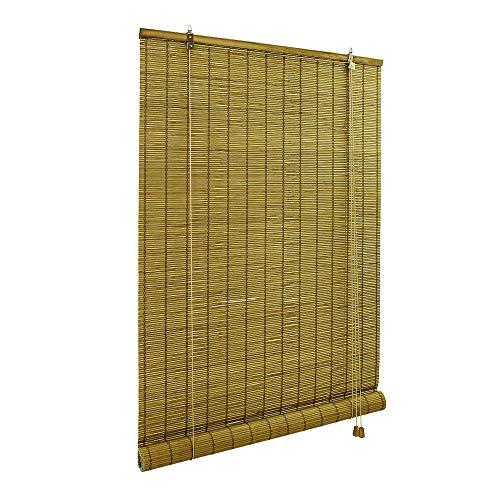 Victoria m klemmfix tenda a rullo in bambù per interni 80 x 160 cm, marrone - montabile senza fori