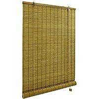 VICTORIA M - Persiana de bambú para interiores, tamaño 110 x 160 cm, color marrón