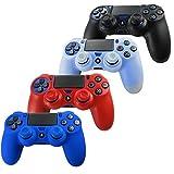 Pandaren Piel Fundas Protectores para el Mando PS4 x 4 + pulgar agarre...
