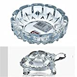 #7: Supermall New Imported Glass Crystal Tortoise in Plate 4x4 inch Fang Shui Vastu Set - Best Gift for Career and Luck best quality