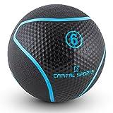 Capital Sports Medba - Medecine Ball en Caoutchouc pour Entrainement Core et Exercices...