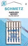 5 Schmetz Nähmaschinen Nadeln für Overlock Maschinen ELx705 SUK CF Stärke 80/12 und 90/14
