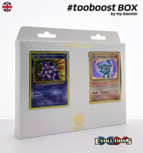 Preisvergleich Produktbild ESAM Box tooboost NIDOKING und MACHAMP (Machomei) - XY12 Evolutions - 10 English Karten Pokemon