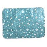 F Fityle Tragbare Wickelunterlage Wickeltisch für unterwegs Wickelauflage Wasserdicht und langlebig,Bestes Geschenk für Baby - Grüner Star, 80x110cm