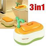 Babyyuga 3-in-1 Training Toilet Potty Tot Pot Seat Step Stool (Orange) - Babyyuga - amazon.co.uk