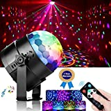 Disco-Ball-Lights, Led-Party-Lights(with Remote Control/7 RGB Colors/Music Activated), DJ-Rotating-Lighting-Effect for Kids-Home-Birthday
