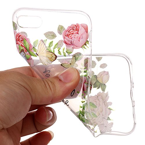 Cover Per iPhone 7 Plus/iPhone 8 Plus 5.5 La cover è carinissima?Funyye Silicone Custodia Morbida Trasparente con Disegno Cristallo Chiaro Sottile Leggero Flessibile Antiurto Antiscivolo Morbida TPU+ Rosa