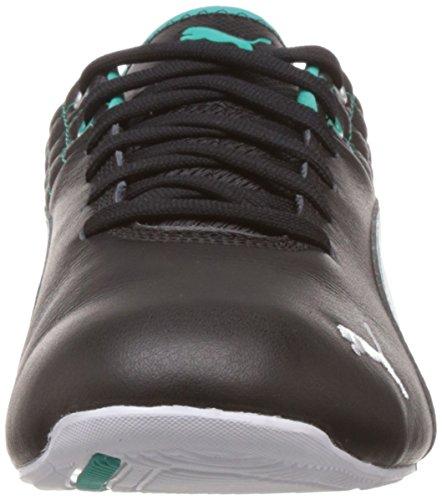 Puma Mercedes AMG Petronas Leather, Low-Top Sneaker Unisex – adulto Nero (Noir (Black/White/Spectra Green))