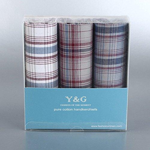 YEA02 Hübsches Geschenk 3 Satz Mens Cotton Taschentücher Excellent Price Von Y&G YEA0207