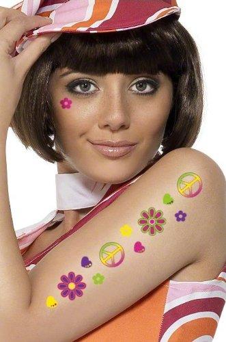Smiffy's 60's Flower Power Temporary Tattoos