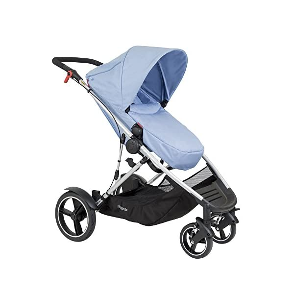 phil&teds Voyager Buggy Pushchair, Blue phil&teds 4-in-1 modular seat with four modes: parent facing, forward facing, lay flat bassinet (on buggy) and free standing bassinet (off buggy) Revolutionary stand fold with 2 seats on Double kit easily converts to lie flat mode as well 7