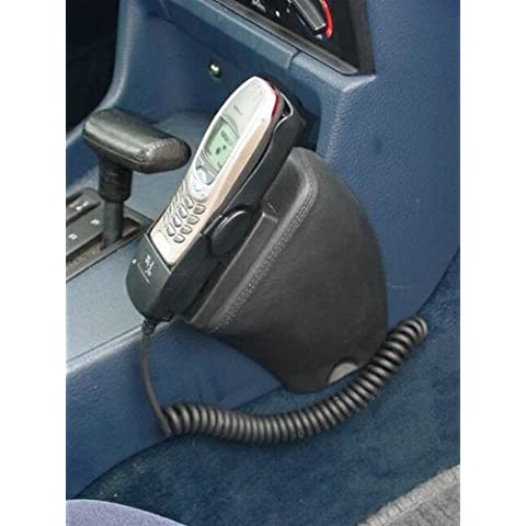KUDA console per telefono (LHD) per: BMW Serie 5 (E34) fino a 96 + 7 (E32) a 94/sabbia grigio in vera pelle