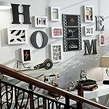 AI XIN SHOP Retro Holz Wand Bild Foto Rahmen Galerie Schlafzimmer Restaurant Wand Sammlung Dekoration (Farbe : B)